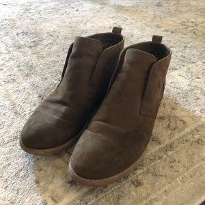 Women's ankle booties (forest green) size 8
